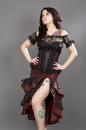 Pin-Up Burgundy Taffeta Frill Skirt